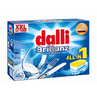 DALLI Таблетки для ПММ Brilliance 40шт All in 1